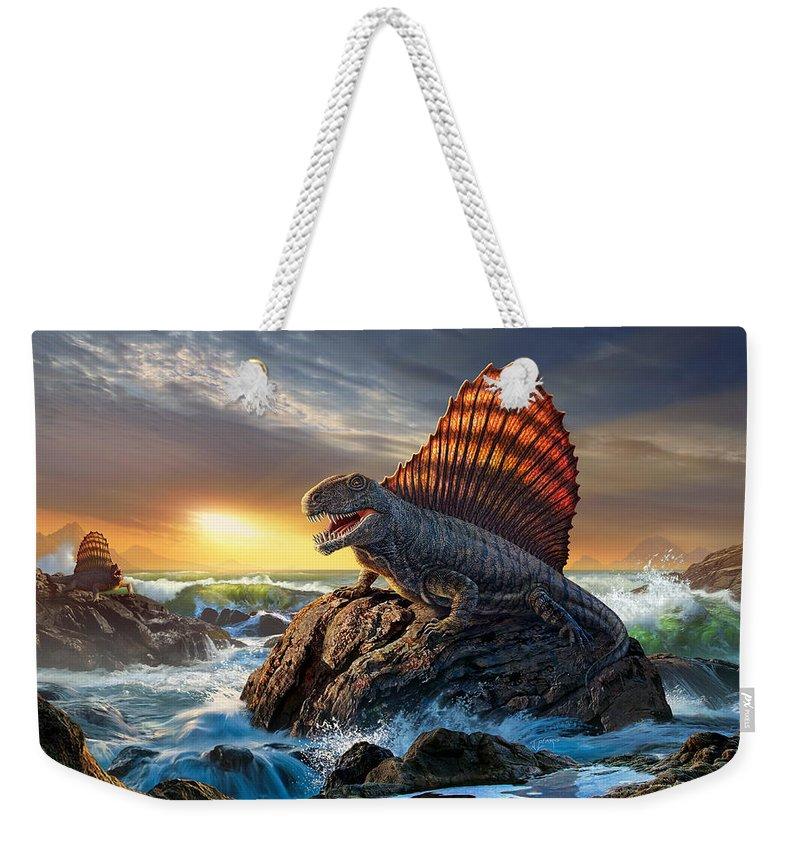 Beam Digital Art Weekender Tote Bags