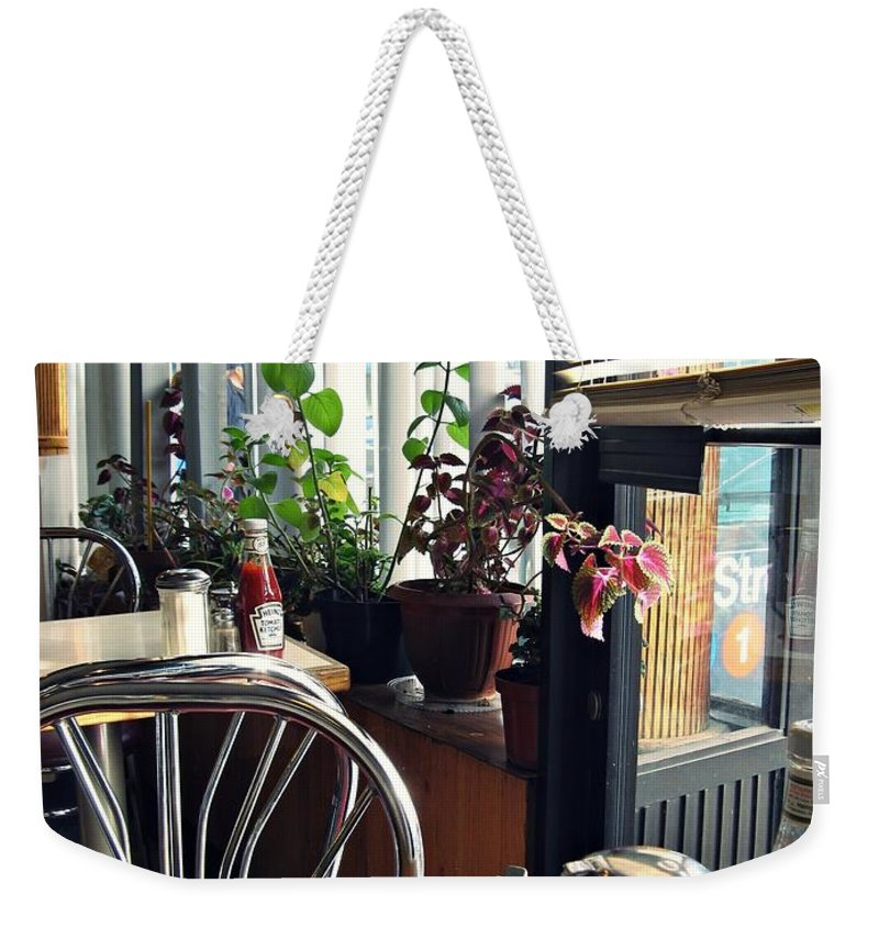 Diner Weekender Tote Bag featuring the photograph Diner Still Life 2 by Sarah Loft