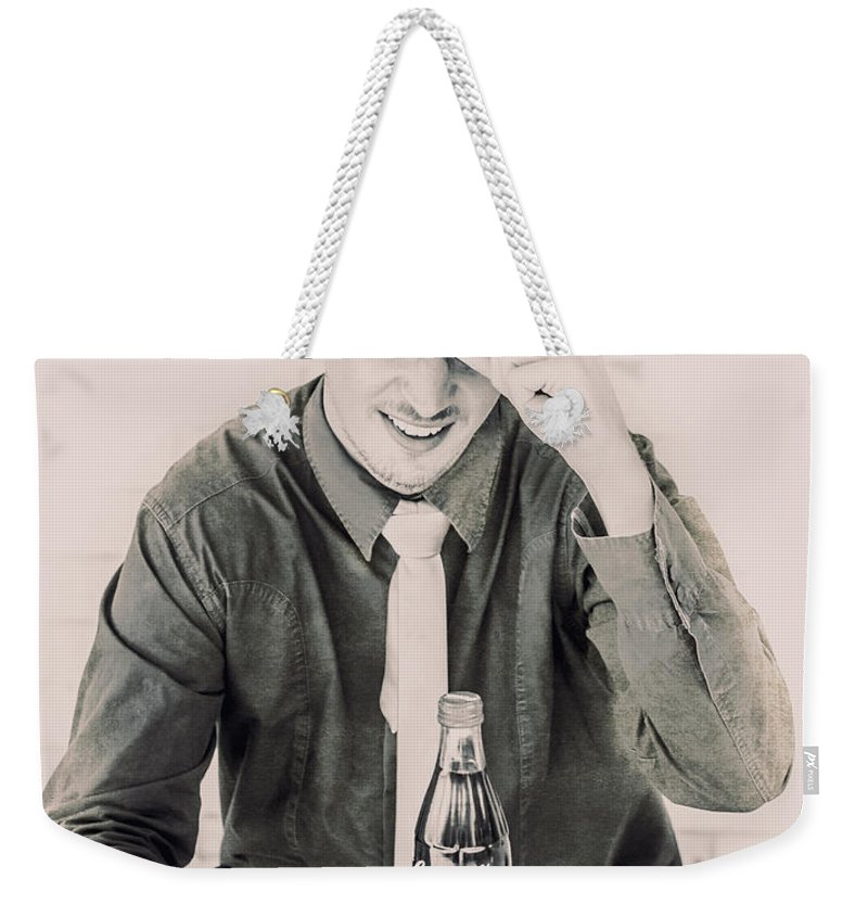 Vintage Weekender Tote Bag featuring the photograph Diner Tips by Jorgo Photography - Wall Art Gallery