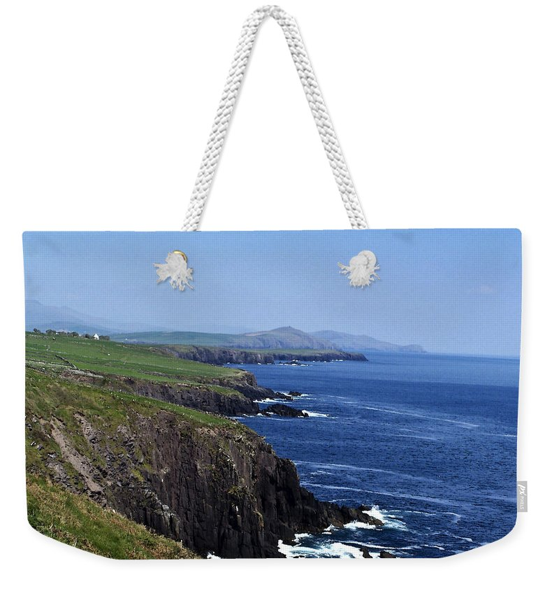 Irish Weekender Tote Bag featuring the photograph Dingle Coast Near Fahan Ireland by Teresa Mucha