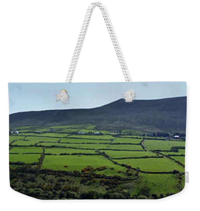 Irish Weekender Tote Bag featuring the photograph Dingle Peninsula Panorama Ireland by Teresa Mucha
