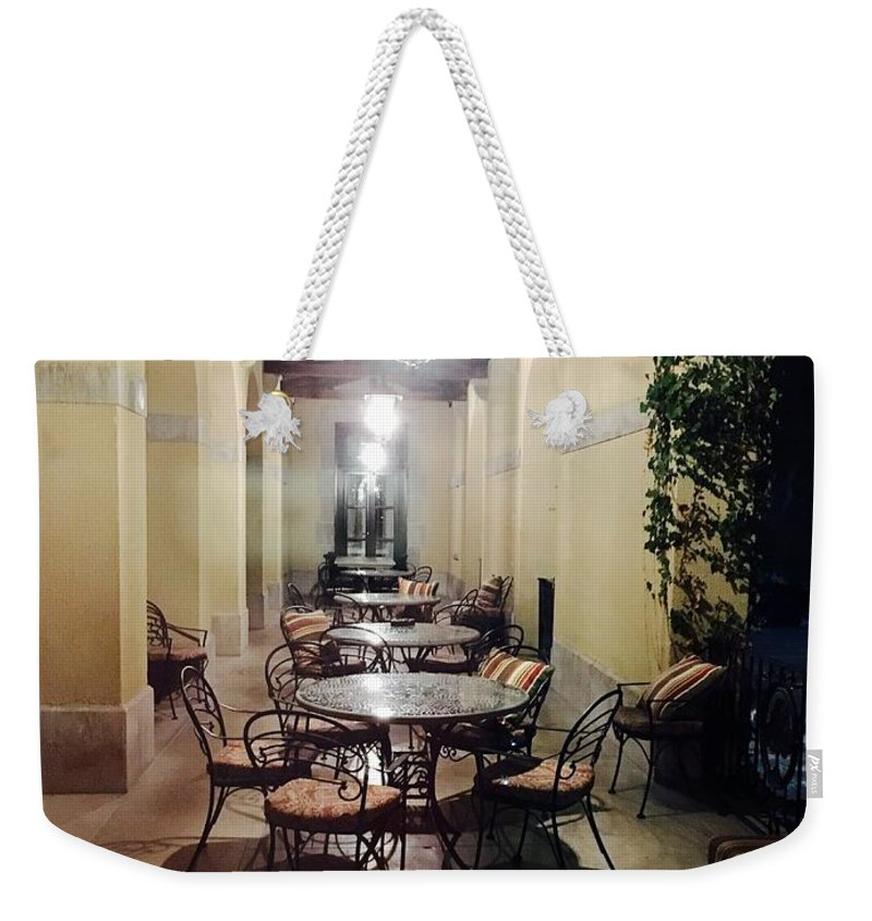 Dining Weekender Tote Bag featuring the photograph Dining At The Castle by Christy Gendalia