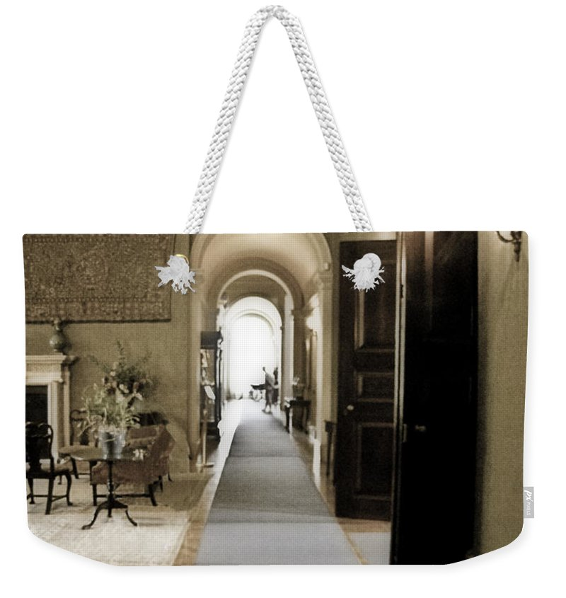 Mansions Weekender Tote Bag featuring the photograph Dinner Is Serve4d by Karen W Meyer