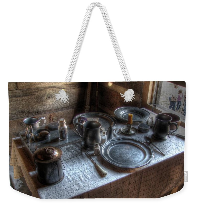 Dinner Weekender Tote Bag featuring the photograph Dinner Is Served by Jane Linders