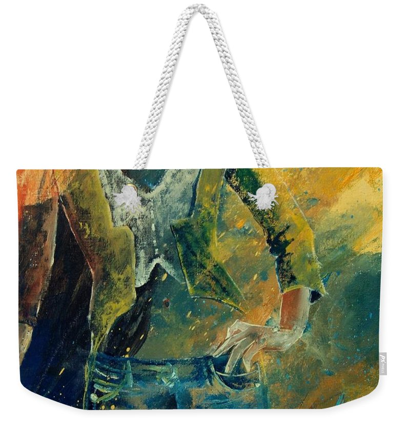 Woman Girl Fashion Weekender Tote Bag featuring the painting Dinner Jacket by Pol Ledent