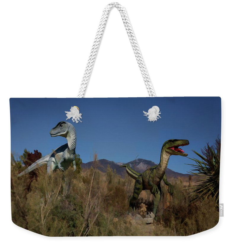 Dinosaurs Weekender Tote Bag featuring the photograph Dinosaur 10 by Mike Penney
