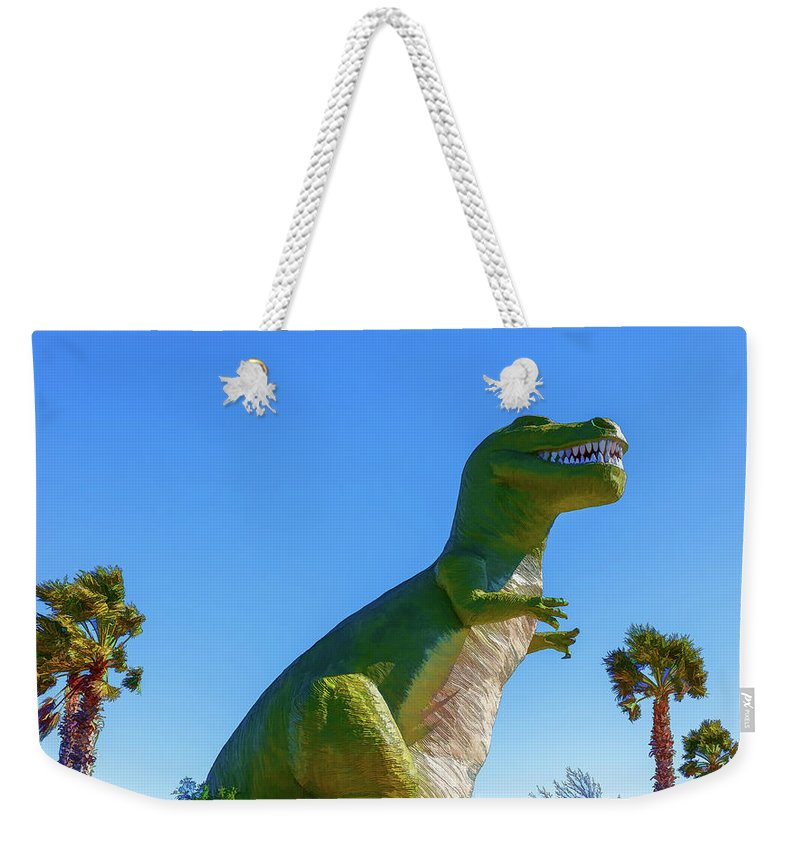 T-rex Weekender Tote Bag featuring the photograph Dinosaur 4 by Mike Penney