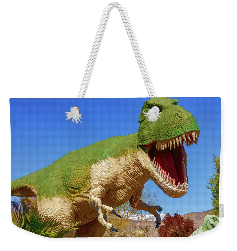 T-rex Weekender Tote Bag featuring the photograph Dinosaur 5 by Mike Penney