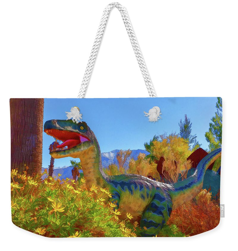 Dinosaur Weekender Tote Bag featuring the photograph Dinosaur 7 by Mike Penney