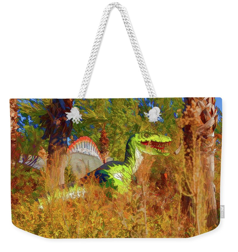Dinosaur Weekender Tote Bag featuring the photograph Dinosaur 9 by Mike Penney