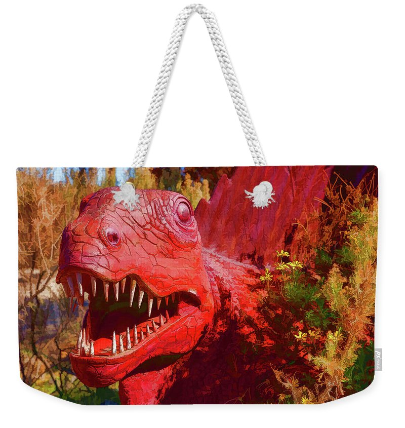 Dinosaur Weekender Tote Bag featuring the photograph Dinosaurs 8 by Mike Penney