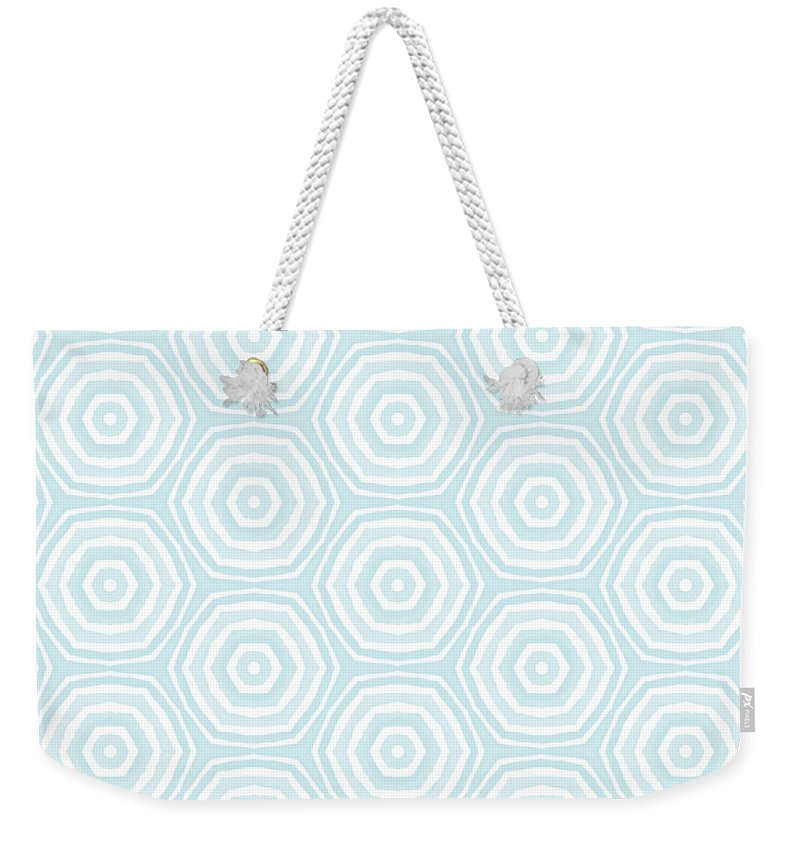 Circles Weekender Tote Bag featuring the digital art Dip In The Pool - Pattern Art by Linda Woods by Linda Woods