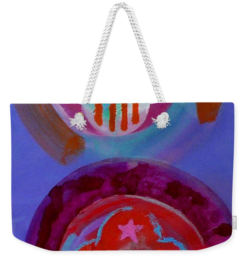 Logo Weekender Tote Bag featuring the painting Diptych by Charles Stuart
