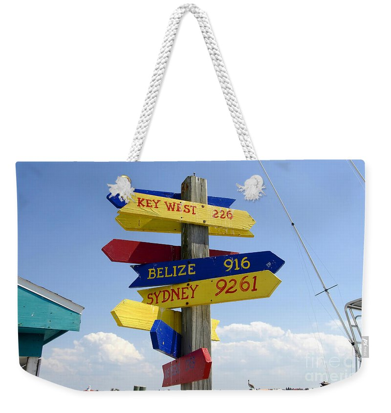 Paradise Weekender Tote Bag featuring the photograph Directions To Paradise by David Lee Thompson