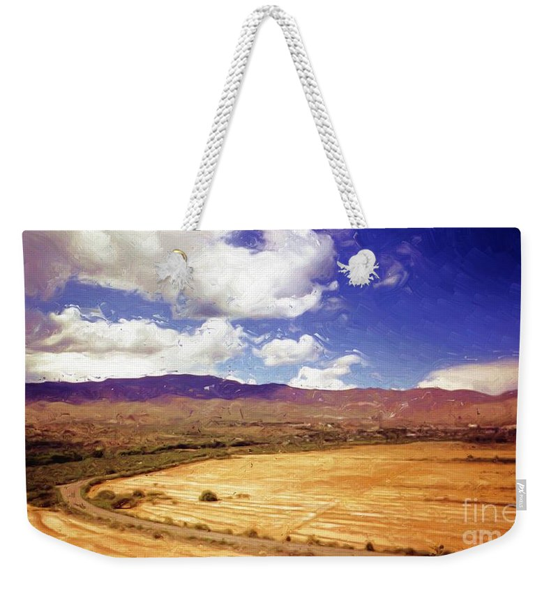 Dirt Farming Weekender Tote Bag featuring the painting Dirt Farming by Methune Hively