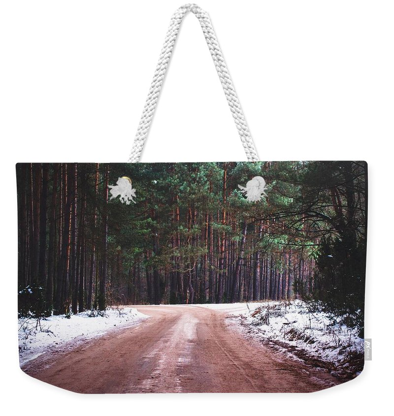 Non_city Weekender Tote Bag featuring the photograph Dirt Road by FL collection