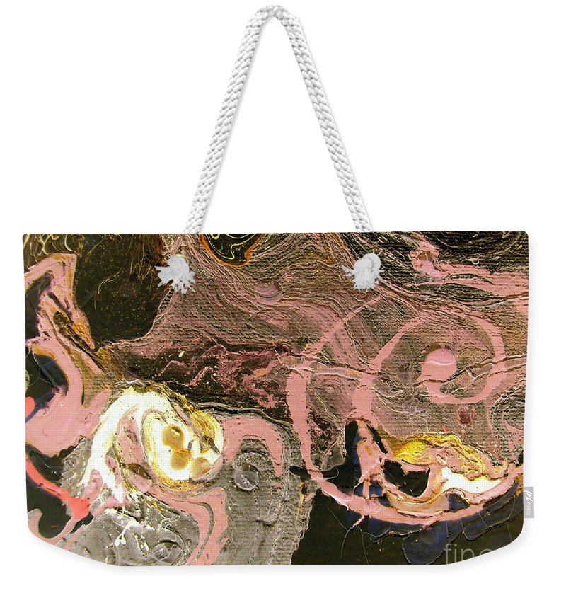 Disaster Weekender Tote Bag featuring the painting Disaster In The Making by Dawn Hough Sebaugh
