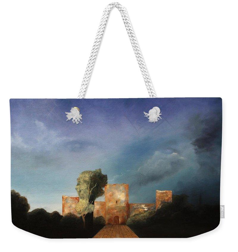 Disclosure Of The Hidden Weekender Tote Bag featuring the painting Disclosure Of The Hidden by Darko Topalski