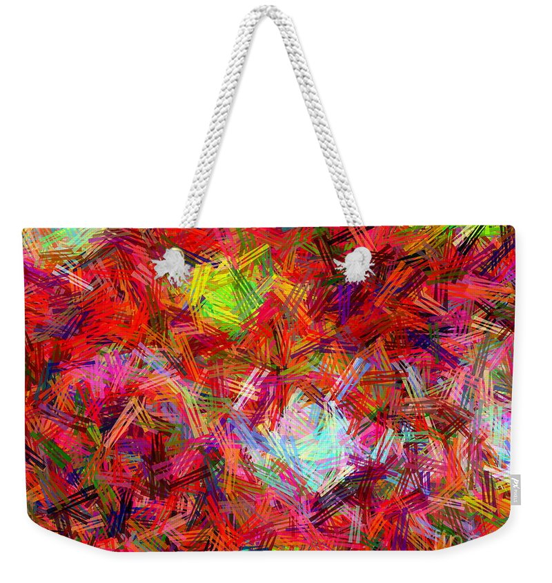 Disco Weekender Tote Bag featuring the painting Disco by Dawn Hough Sebaugh