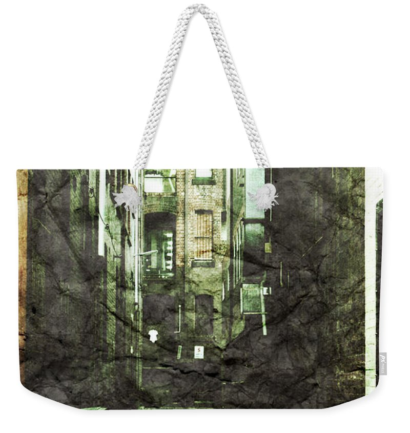 Alley Weekender Tote Bag featuring the photograph Discounted Memory by Andrew Paranavitana