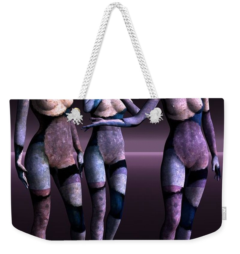 3d Weekender Tote Bag featuring the digital art Discussion by Issabild -