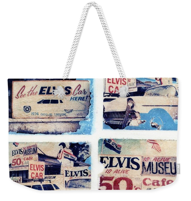 Elvis Weekender Tote Bag featuring the photograph Disgraceland by Jane Linders