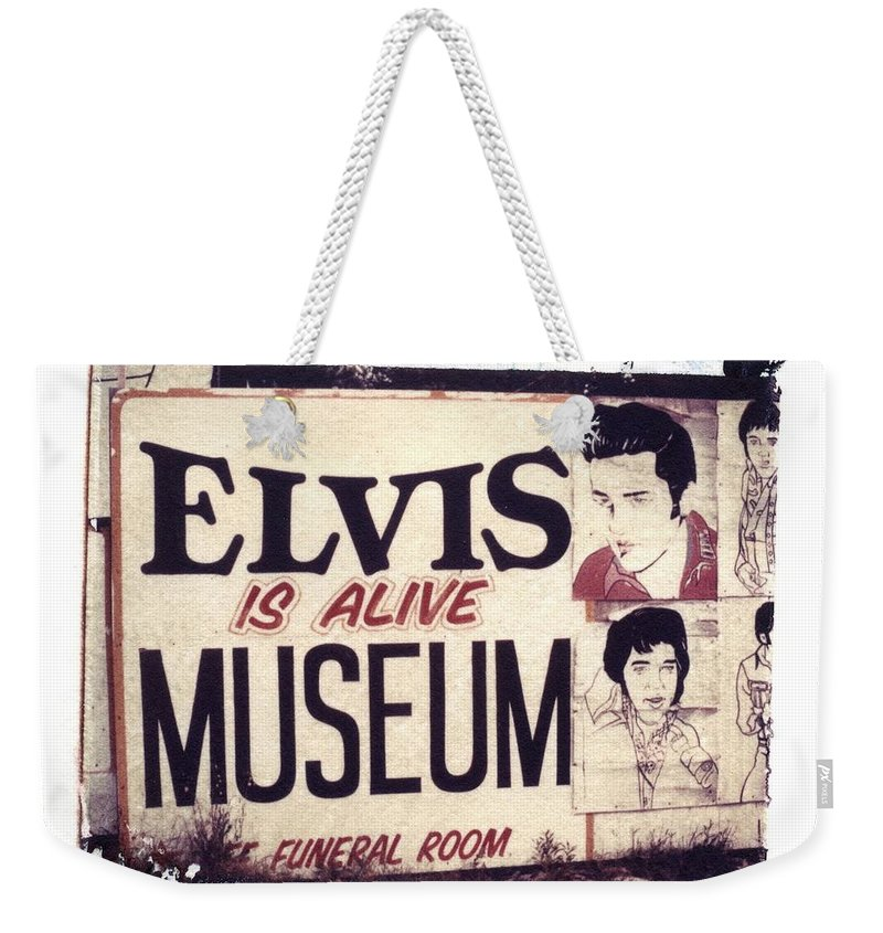 Polaroid Transfer Weekender Tote Bag featuring the photograph Disgraceland No. 2 by Jane Linders
