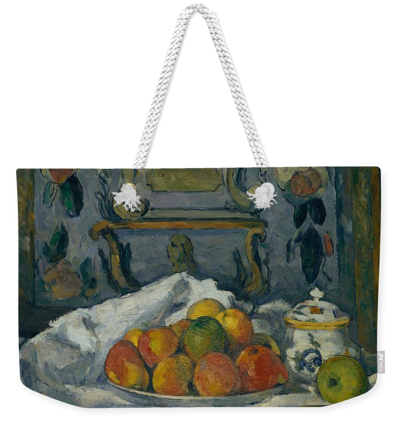19th Century Art Weekender Tote Bag featuring the painting Dish Of Apples by Paul Cezanne