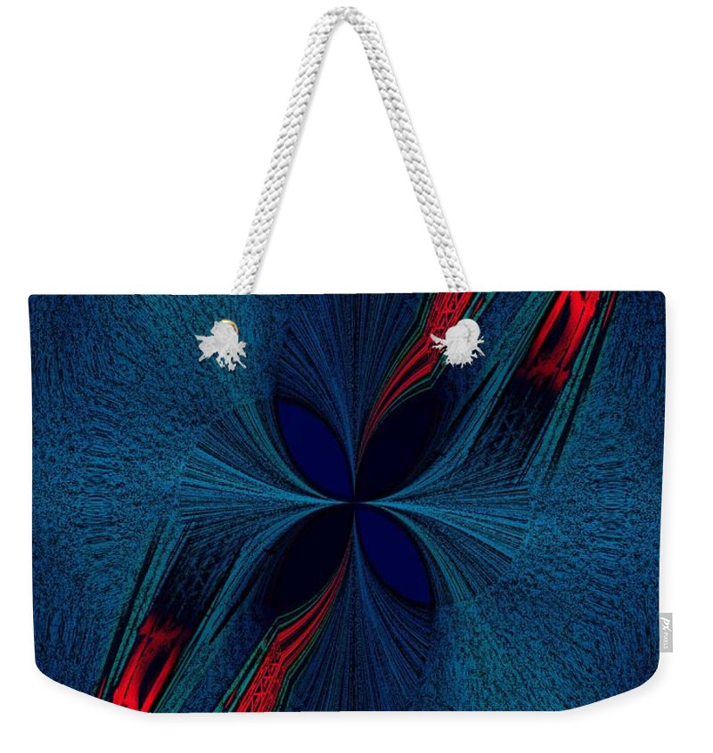 Dislocation Weekender Tote Bag featuring the digital art Dislocation by Tim Allen