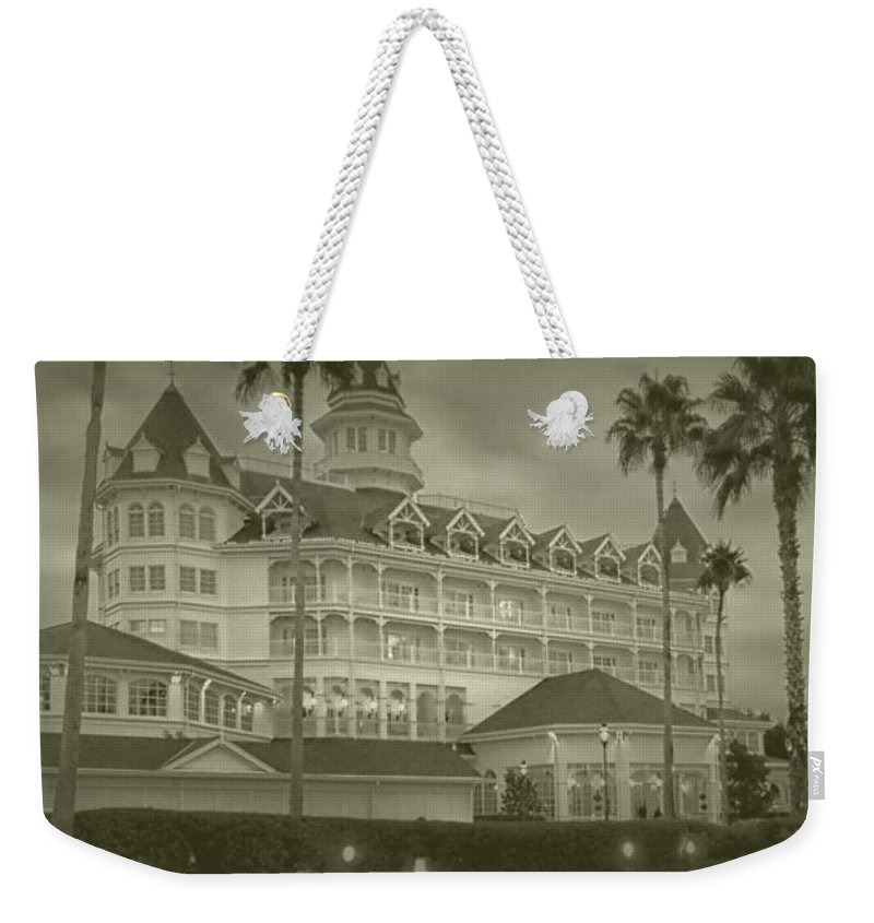 Grand Floridian Resort Weekender Tote Bag featuring the photograph Disney World The Grand Floridian Resort Vintage by Thomas Woolworth