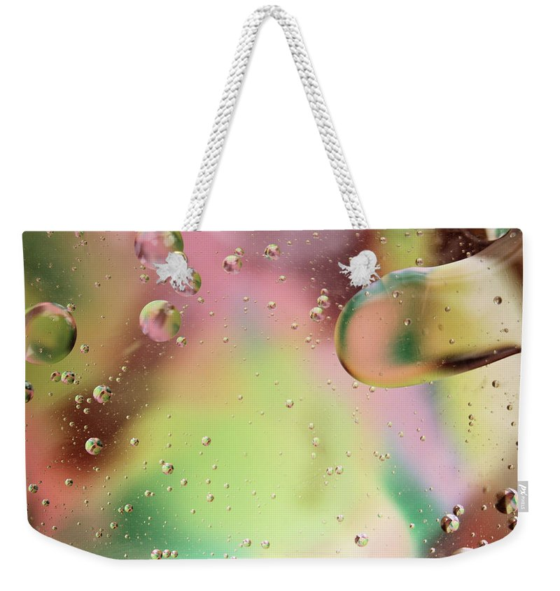 Abstract Weekender Tote Bag featuring the photograph Dispersal by Michael Peychich