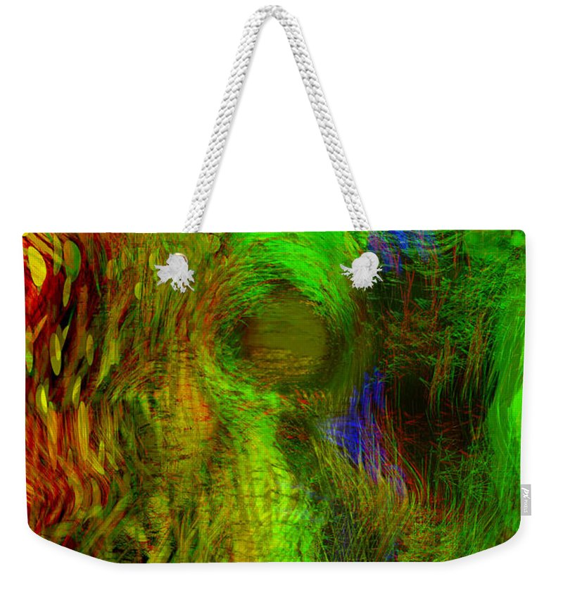 Digital Art.abstract Art Weekender Tote Bag featuring the digital art Dissolution by Linda Sannuti