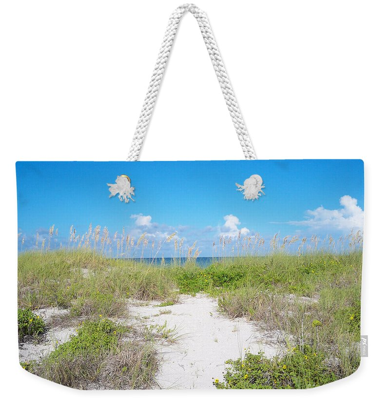 Florida Weekender Tote Bag featuring the photograph Distant Sea by Chris Andruskiewicz
