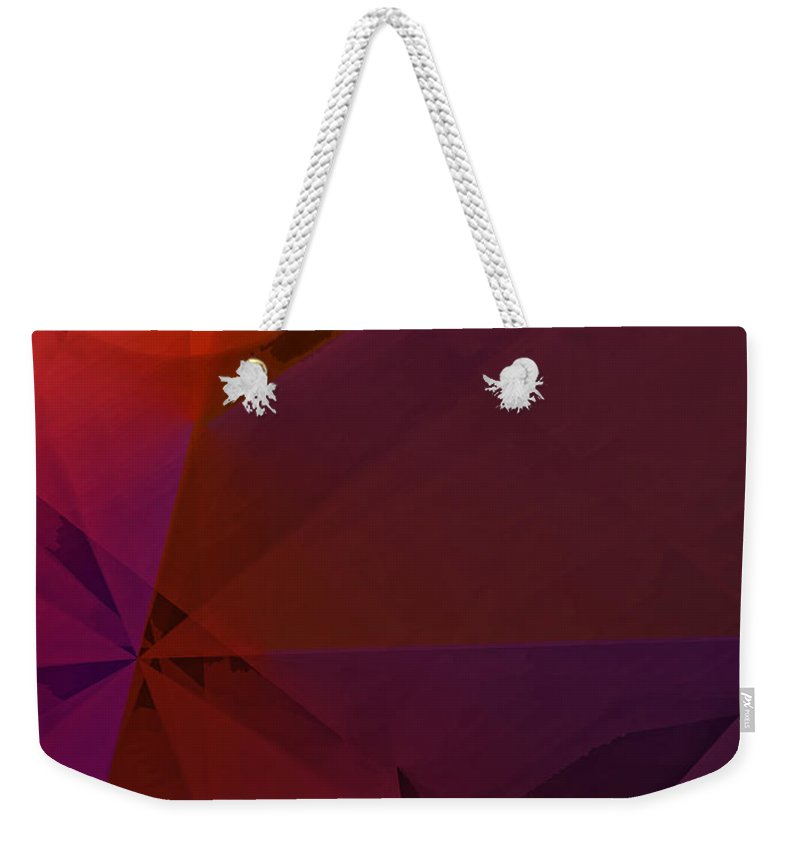 Abstract Weekender Tote Bag featuring the digital art Distant Structures by Ian MacDonald