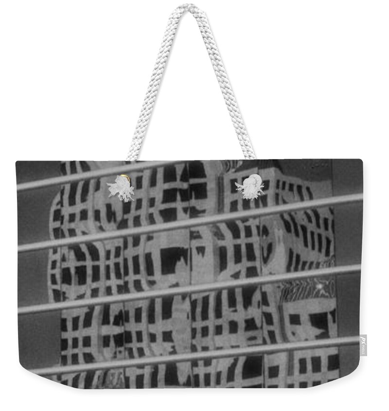 Distorted Weekender Tote Bag featuring the photograph Distorted Views by Richard Rizzo