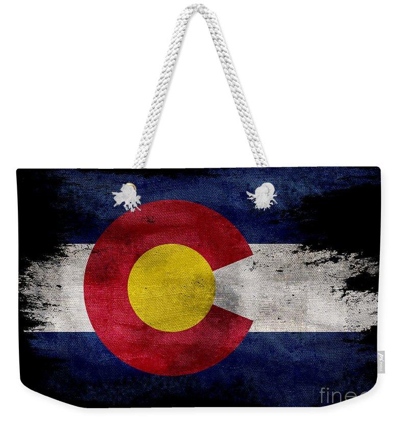 Colorado Flag Canvas Tote