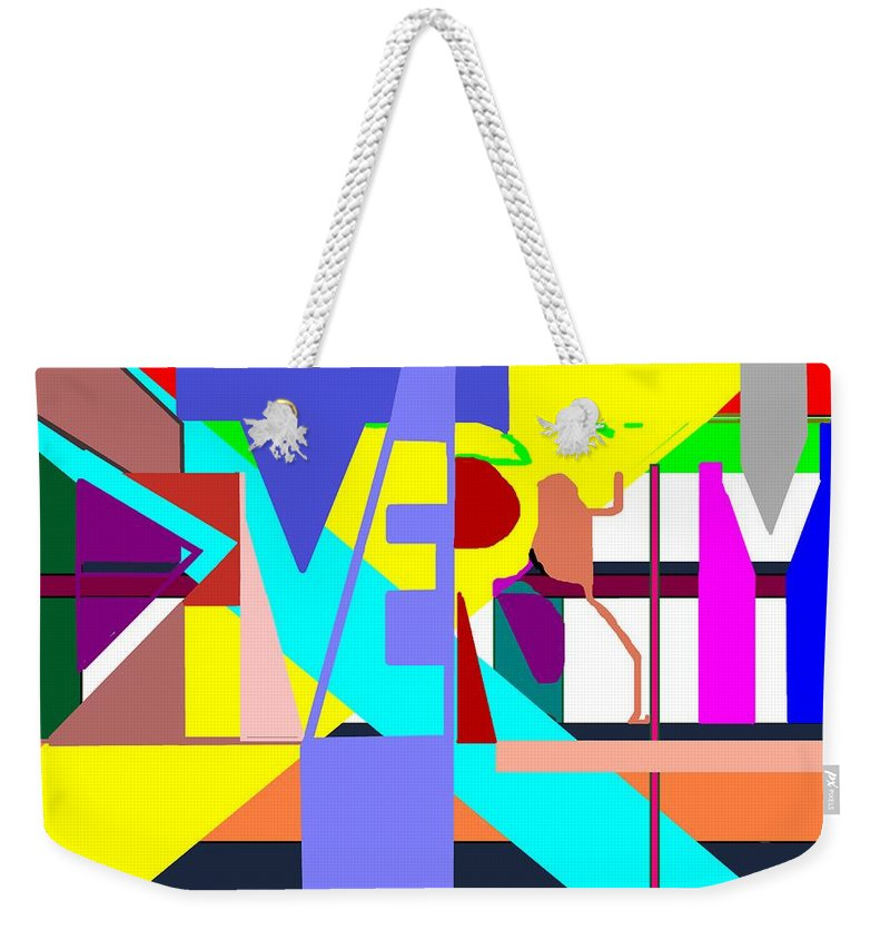 Diversity Weekender Tote Bag featuring the digital art Diversity Enmeshed by Pharris Art