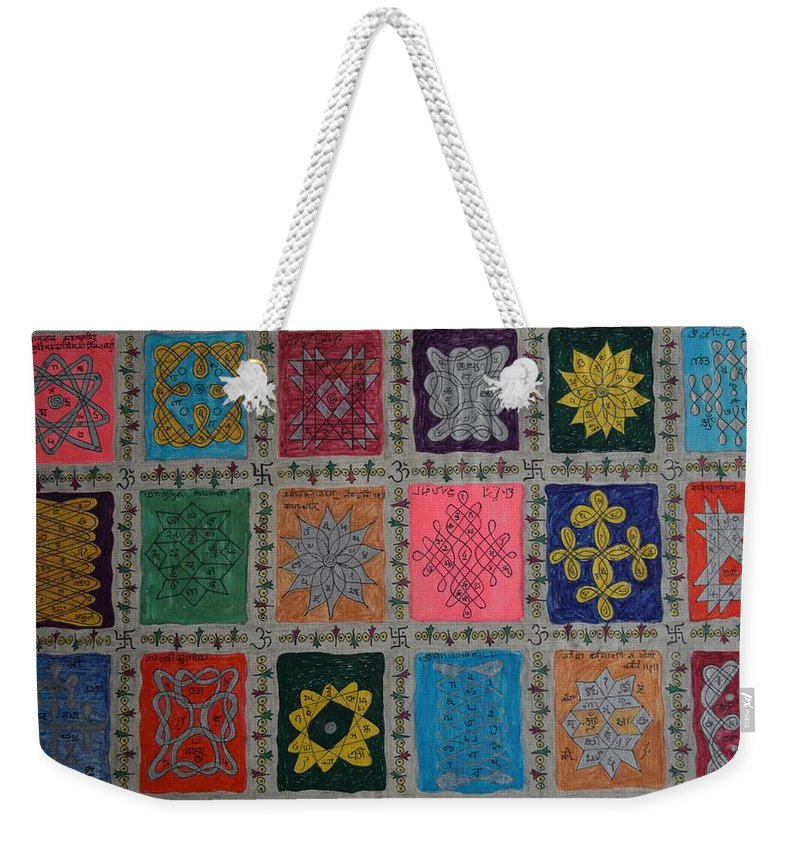 Religion Weekender Tote Bag featuring the painting Diversity by M Ande