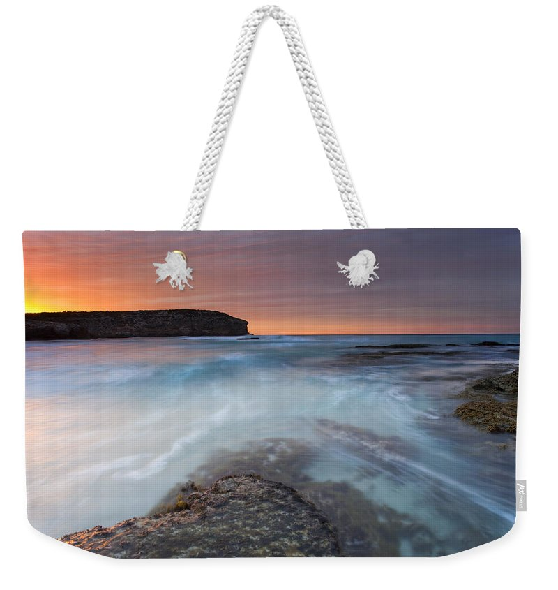 Dawn Weekender Tote Bag featuring the photograph Divided Tides by Mike Dawson