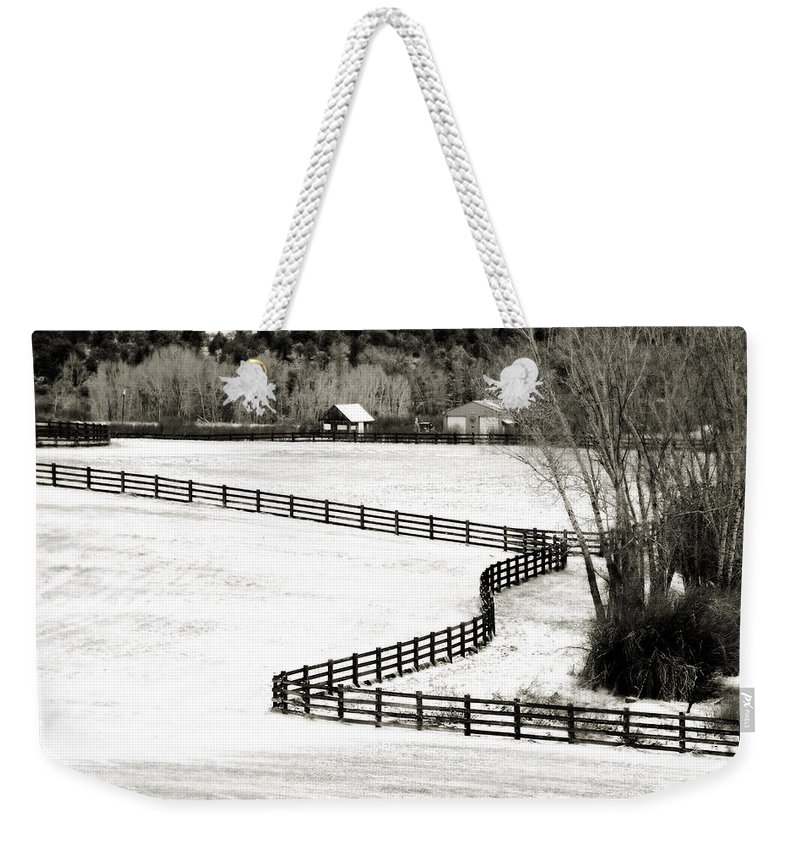 Americana Weekender Tote Bag featuring the photograph Dividing Lines by Marilyn Hunt