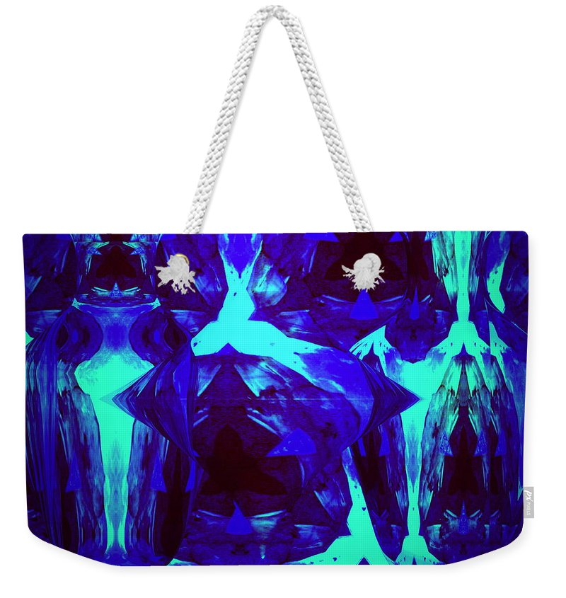 Abstract Weekender Tote Bag featuring the photograph Division Of Light by Joyce Dickens