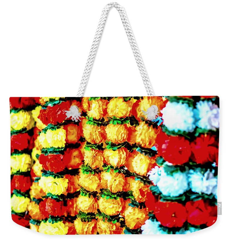 Almond Weekender Tote Bag featuring the photograph Diwali Decorations 4 by Jijo George