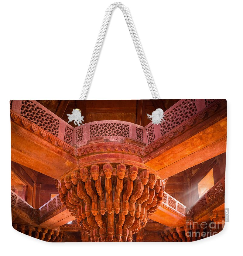 Agra Weekender Tote Bag featuring the photograph Diwan-i-khas by Inge Johnsson
