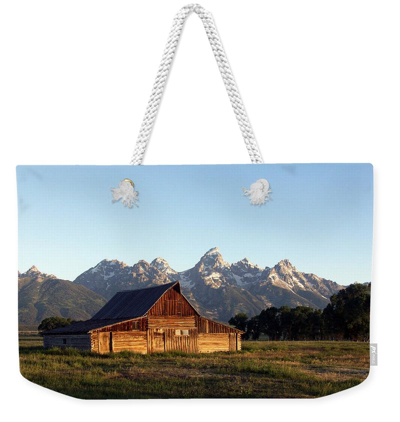 Landscape Yellowstone Grand Tetons Cabin Weekender Tote Bag featuring the photograph Dnrd0104 by Henry Butz