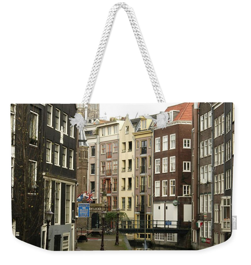 Landscape Amsterdam Red Light District Weekender Tote Bag featuring the photograph Dnrh1101 by Henry Butz