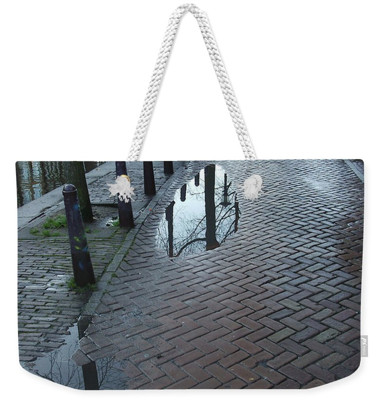 Landscape Amsterdam Red Light District Weekender Tote Bag featuring the photograph Dnrh1109 by Henry Butz