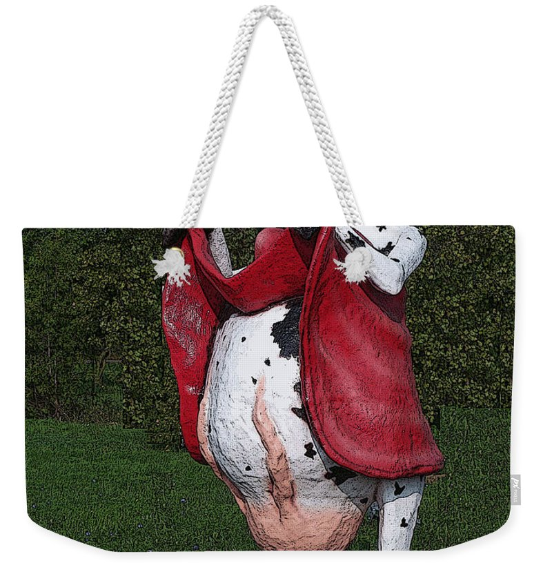 Cow Weekender Tote Bag featuring the photograph Do Happy Cows Come From Ca by Tommy Anderson