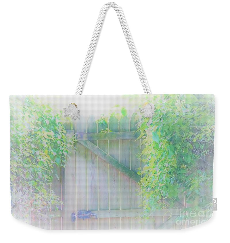 Garden Weekender Tote Bag featuring the photograph Do I Want To Leave The Garden by Merle Grenz