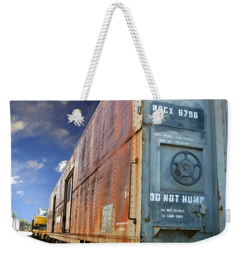 Do Not Hump Weekender Tote Bag featuring the photograph Do Not Hump by Anthony Jones