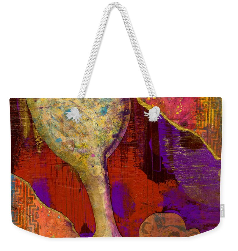 Wood Weekender Tote Bag featuring the mixed media Do This In Remembrance by Angela L Walker